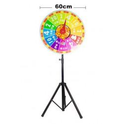 Glücksrad Wheel of Fortune 60cm + Verstellbar Stativ Stand bis 170cm