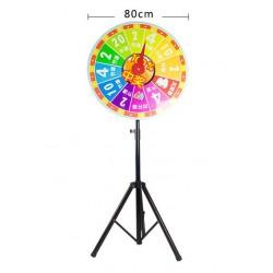 Glücksrad Wheel of Fortune 80cm + Verstellbar Stativ Stand bis 170cm