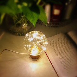 LED Nachtlicht Glühbirne Dekorative Atmosphäre Licht Warmweiss USB