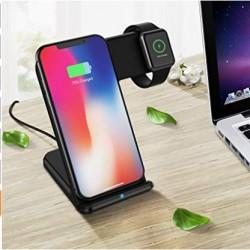 Ladegerät Dock Halter Ständer Wireless Charger 2in1 für iWatch iPhone