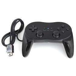 Joystick Nintendo Wii U Gamepad Pro Controller + Kabel Schwarz