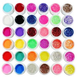 UV Gel Nailart 72 Farben Farbgel Set Polish Nagelgel Gellack Gelpolish