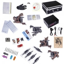 Tätowierung Tattoo Kit Komplett Tattoomaschine Set: 4 Tattoo Maschine