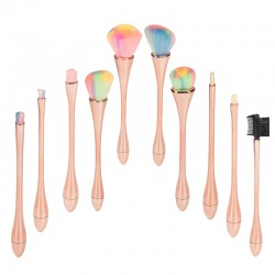 Make Up Pinsel Set 10 Stück Bürsten für Foundation Eyebrow Eyeliner