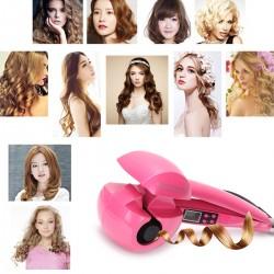 Lockenmaschine Haircurler Lockendreher Lockenstab LCD Curling pink