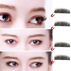 Fake Eyelashes Magnetic Wimpern dual 3D Widerverwendbare 1 paar