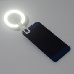 LED Ringlicht Spiegel licht Handy Light dimmbar weiss f. Self Timer
