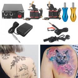 Tattoo Maschine 2 Set Komplett Profi Tätowierung Tattomaschine