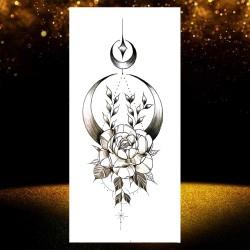 6pcs Temporär Tattoo Rose Blume Kleber Tattoos Tätowierung Aufkleber