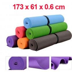 Yogamatte Gymnastikmatte Fitnessmatte Sportmatte Matte 173x61x0.6cm