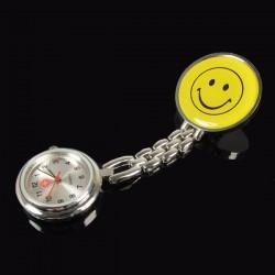 Krankenschwesteruhr Schwesteruhr Pulsuhr Hängeruhr Smiley Design Gelb