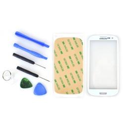 Display Glas Ersatzglas für Samsung i9300 S3 + Werkzeug 3M Kleber weiß