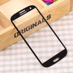 Displayglas Ersatzglas f. Samsung i9300 S3+Werkzeug 3M Kleber schwarz