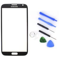 Ersatzglas Display Frontscheibe f. Samsung Note 2 N7100 titangrau