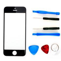 Frontscheibe Ersatzglas Display Glas Werkzeug Set für iPhone 5 schwarz