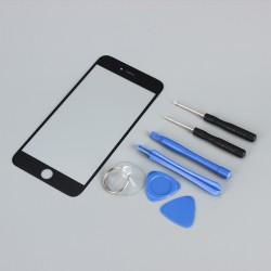 Schutzglas Frontscheibe Panzerglas Glasscheibe f. iPhone 6Plus Schwarz
