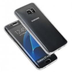 Hülle Vollschutz Cover TPU vorne hinten Case f. Samsung S7 Edge 0.5mm