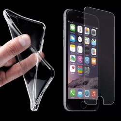 Transparent Schutzhülle Cover ultra klar Slim TPU Silikon f. iPhone 6