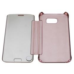Spiegel Schutzhülle Tasche Cover Etui für Samsung S7 Edge Rosegold
