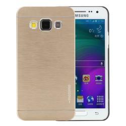 Harte Schutzhülle Slim Cover Alu Case Etui Tasche für Samsung A3 gold