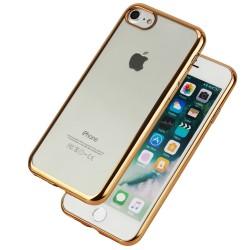 Hülle Soft Case Schutzhülle Tasche Cover TPU f. iPhone 7 gold