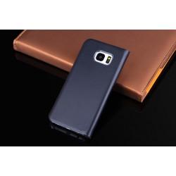 Hülle mit Sicht-Fenster Schwarz Schutzhülle für Samsung Galaxy S7 Edge