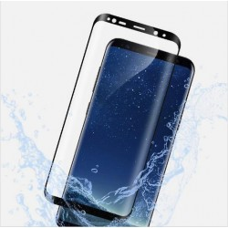 Panzerglas 9H 3D Schutzfolie Panzerglasfolie schwarz f. Samsung Galaxy S8