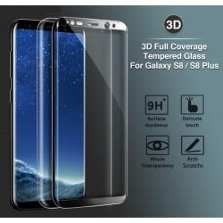 Panzerfolie Panzerglascover 9H 3D Härtegrad Schutzglas f. Samsung S8