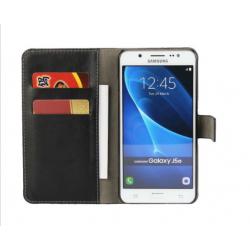 Handy Schutzhülle Flip Brieftasche Etui Schale für Galaxy J5 schwarz