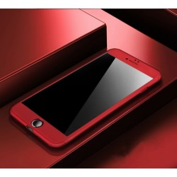 Panzerglas mit Hülle für Iphone 7 Rundumschutz Handyhülle schutuglas