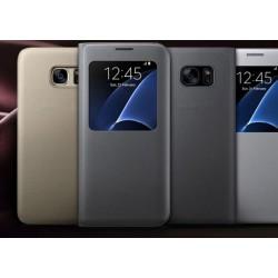Fenster-Ansicht Schutzhülle Case Cover Klapphülle Etui für Galaxy S7