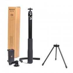 Selfie Stick SelfieStange mit Faltbar Stativ für GoPro iPhone schwarz