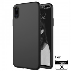 Handyhülle 360° Full Body Schutz Backcover+ Panzerfolie f. iPhone X