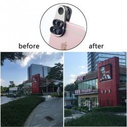 Clip-on Kamera Objektiv Handy Objektiv 4in1 für iPhone Teleobjektiv