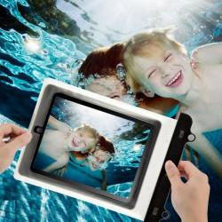 Schutztasche Schwimmen Beachbag PC Hülle Wasserdicht f. iPad weiß