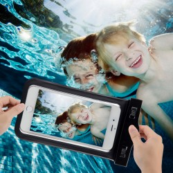 Schutztasche Schwimmen Beachbag PC Hülle Wasserdicht f. iPhone schwarz