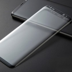 Panzerglas Vollständige Abdeckung Displayschutzfolie Galaxy S9 schwarz