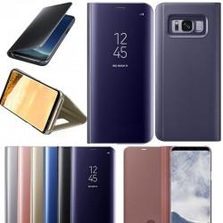 Spiegelhülle Schutzhülle Slim mit Ständer f. Samsung S9 lila