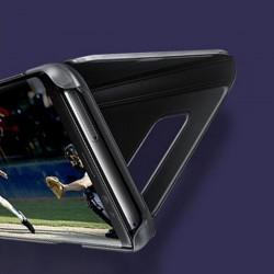 Spiegel Schutzhülle Hülle Flipcase Cover f. Samsung S9 plus schwarz