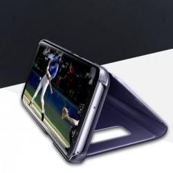 Spiegel Schutzhülle Hülle Flipcase Cover f. Samsung S9 plus lila