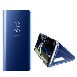 Spiegel Schutzhülle Hülle Flipcase Cover f. Samsung S9 plus blau