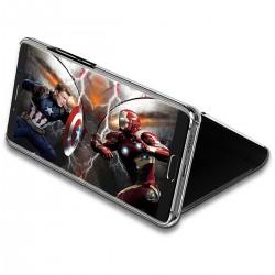 Spiegel Schutzhülle Handyhülle mit Ständer f. Huawei P20 Pro schwarz