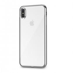 """Handyhülle iPhone XS Max 6.5"""" Schutzhülle Case Silberes Rahmen"""