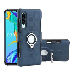 Huawei P30 Hülle TPU Cover Schutzhülle Backcover Case mit Ringhalter