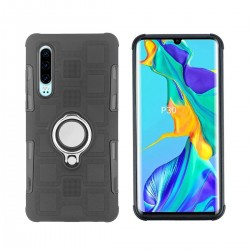 Huawei P30 Hülle TPU Cover Backcover Schutzhülle Case mit Ringhalter