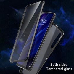 Huawei P30 Hülle Glas Schutzhülle Transparent Case Cover Gehärtetes