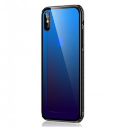 iPhone X/XS Gehärtetes Glas Handyhülle Farbwechsel Hülle Schutzhülle