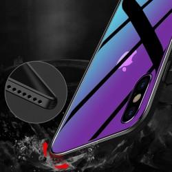 iPhone XS Max Handyhülle mit Panzerglas Rückseite Farbwechsel Case Cover