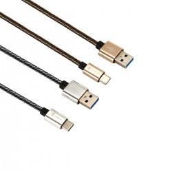 Schnelllade Nylon Datenkabel Ladekabel für Type C Geräte 2pcs