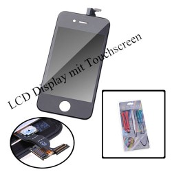 LCD Komplett Display iPhone 4 Touchscreen Komplettset Werkzeug